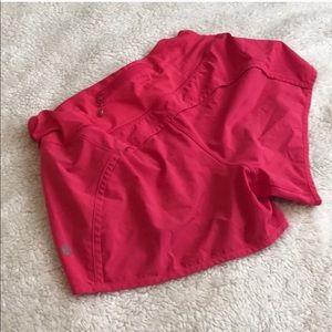 hot pink lululemon speed shorts